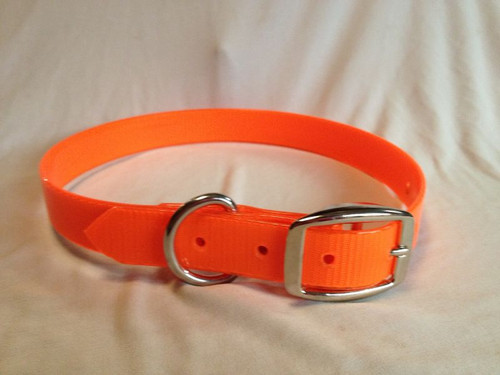A3. DAY GLO COLLAR EXTRA LONG - NICKEL