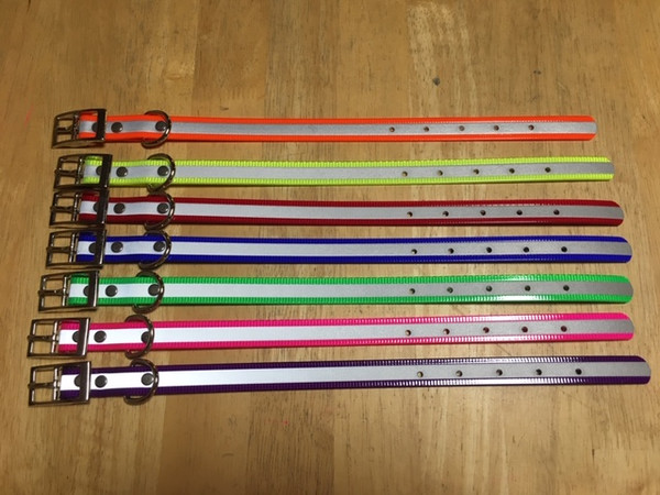 """A6.  3/4"""" REFLECTIVE DAY GLO PUPPY OR SMALL DOG COLLAR"""