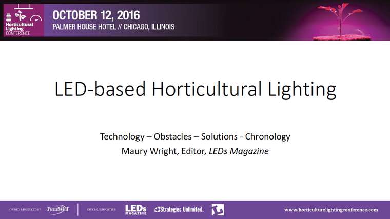 Conference Proceedings from the Horticultural Lighting Conference