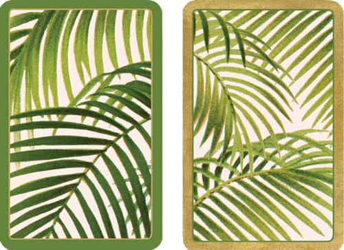 Playing Cards Under The Palms - Large Type