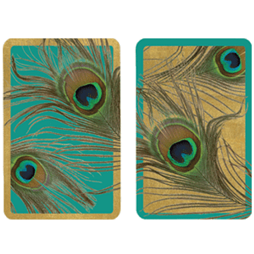 Playing Cards Peacock - Large Type