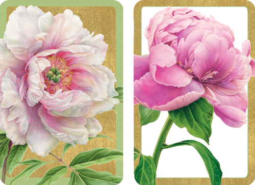 Playing Cards Peonies - Large Type