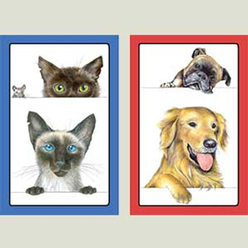 Playing Cards Dogs & Cats - Large Type