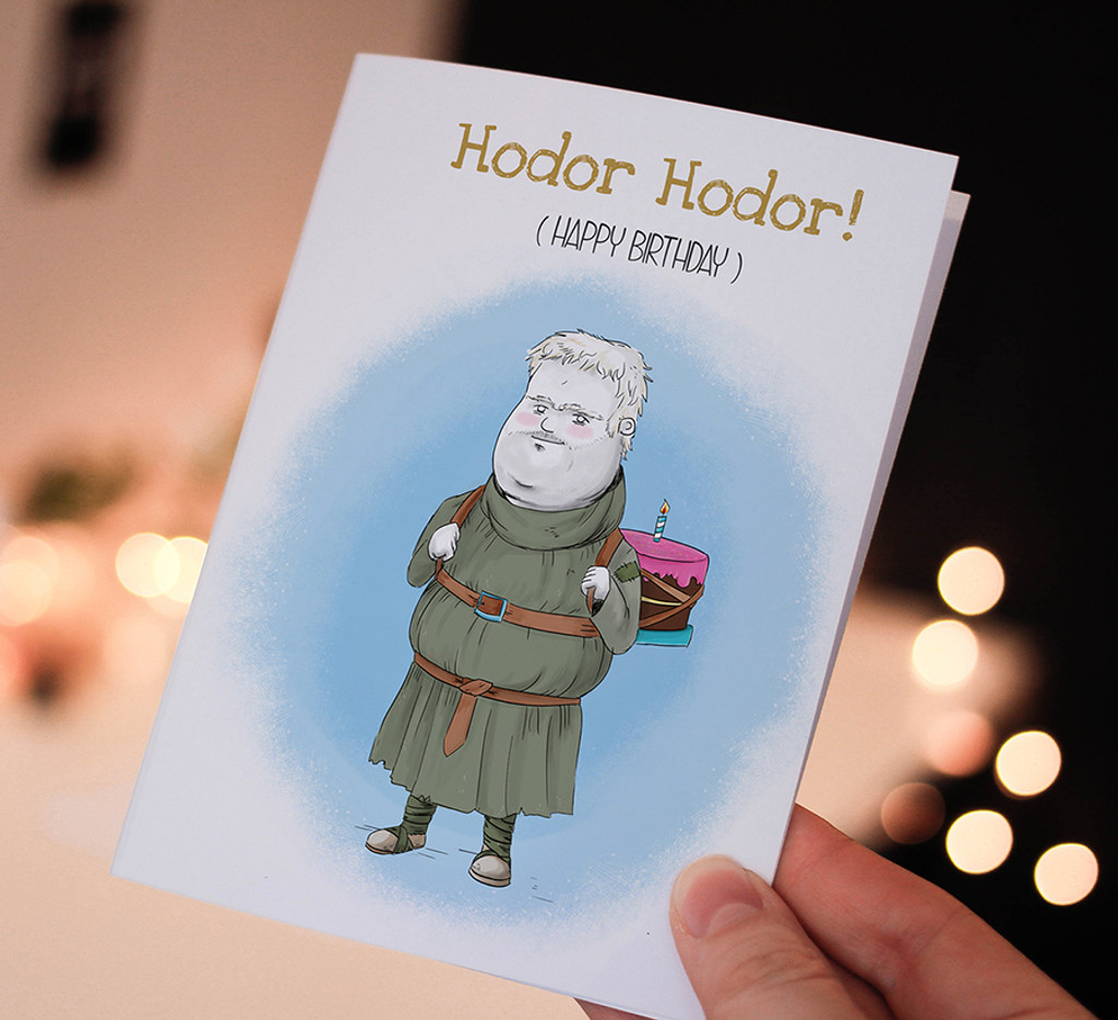 Happy Birthday Card Printable Game Of Thrones Hodor