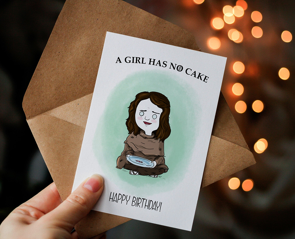 Happy Birthday Card , Printable Card, Game of Thrones, Arya