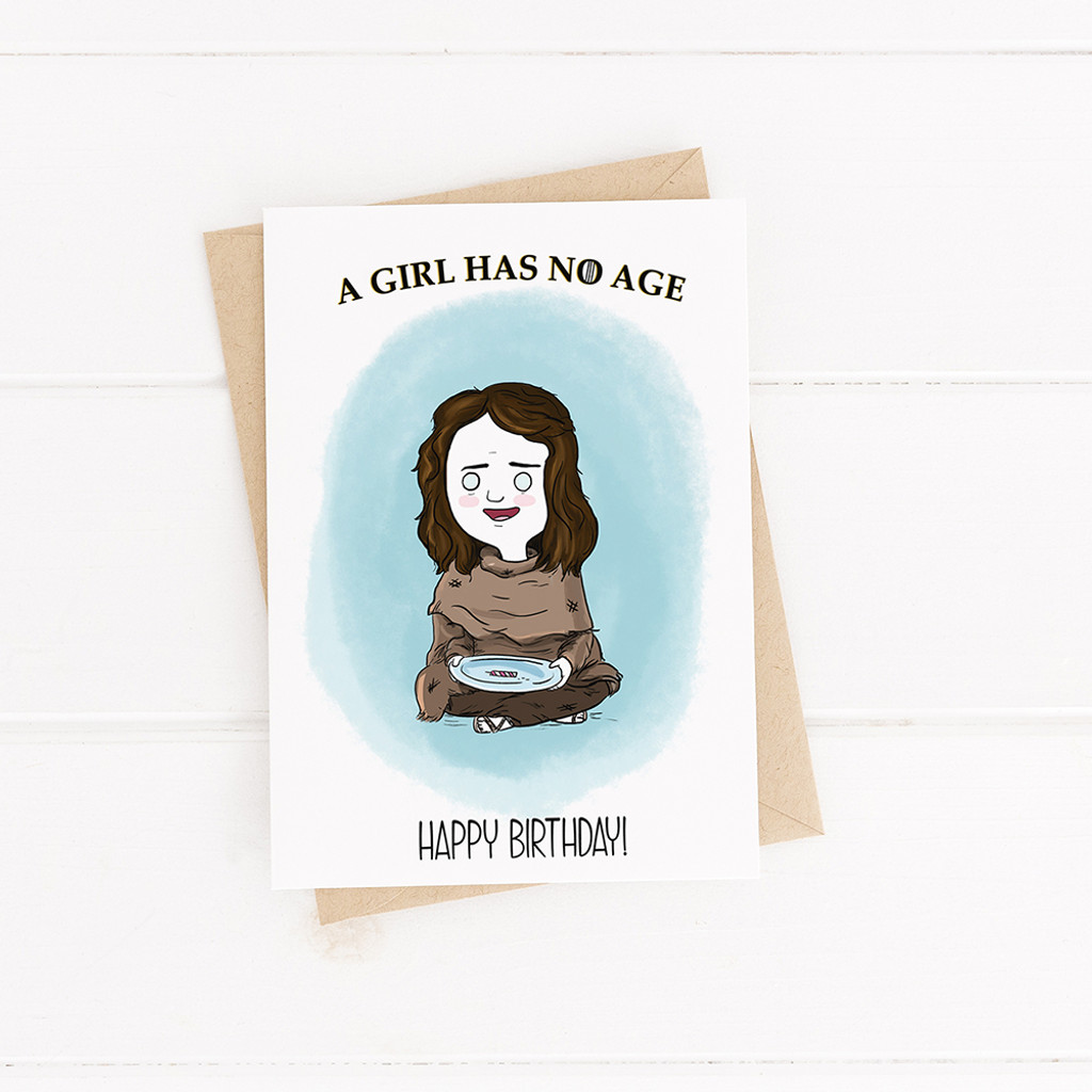Birthday Card , Printable Card, Game of Thrones, Arya