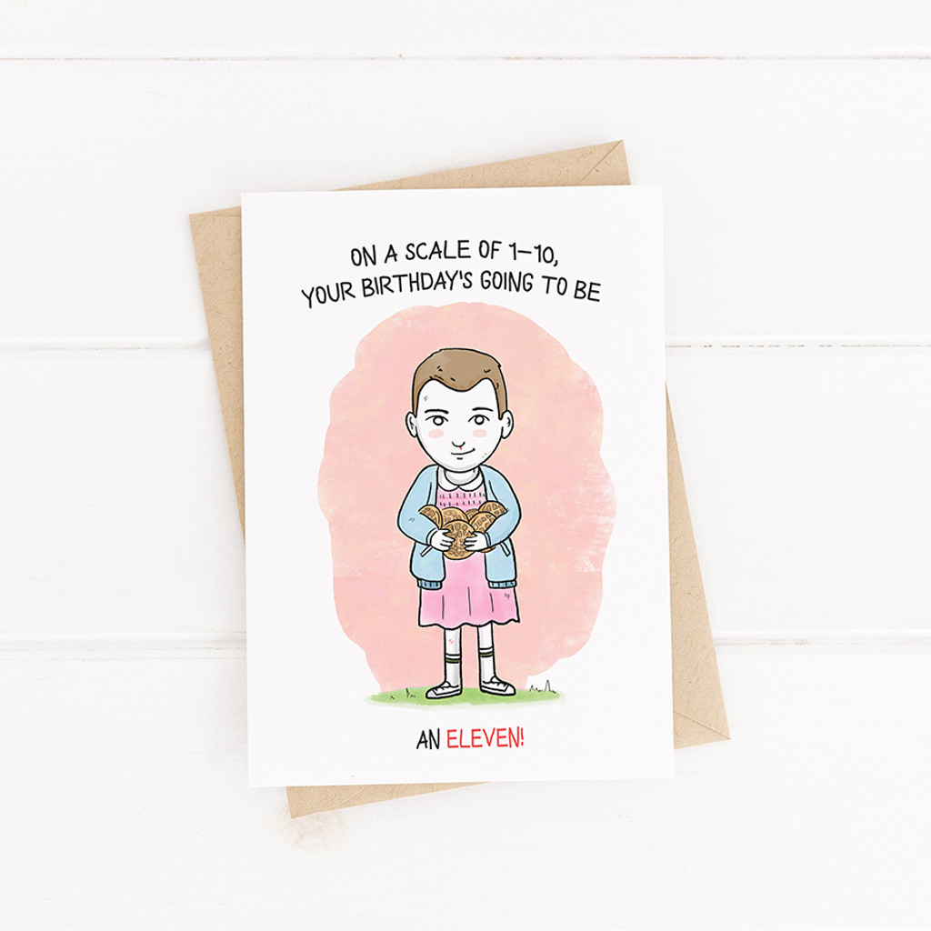 Birthday Card , Printable Card, Stranger thing, Eleven