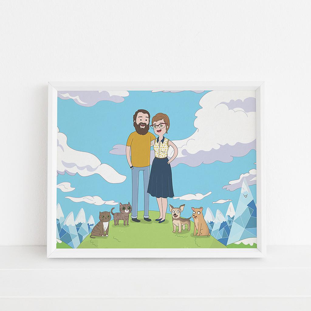 Adventure Time Style - Custom portrait