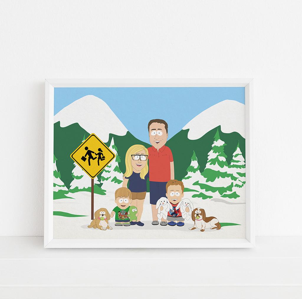 South Park Style - Custom portrait