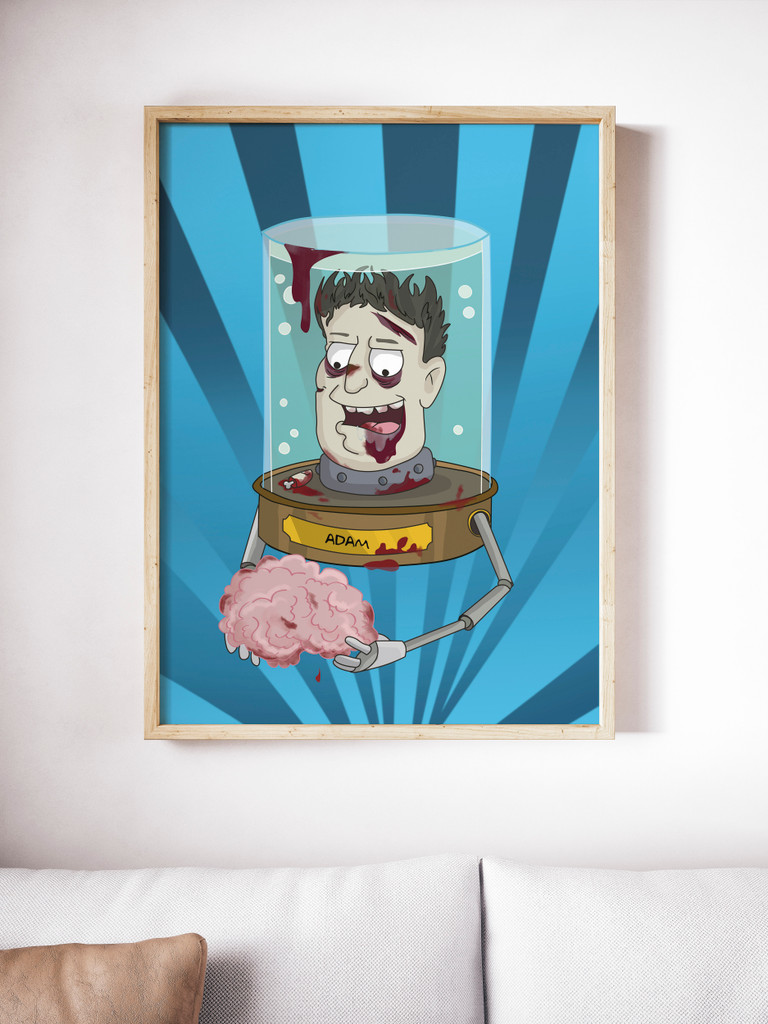 Head in a Jar Style - Custom Portrait