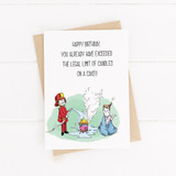 Birthday Card , Printable Card, Fireman, Candle card