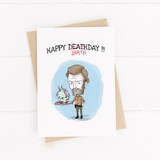 Birthday Card , Printable Card, Rick, Walking dead, Zombie