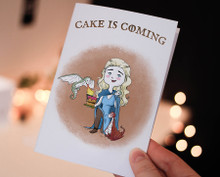 Funny Happy birthday, Printable Card, Game of Thrones, Khaleesi, Cute Birthday Card, Birthday, Daenerys Targaryen, Dragons