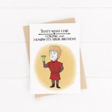 Happy birthday, Printable Card, Game of Thrones, , Cute Birthday Card, Birthday