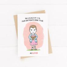Birthday Card , Printable Card, Stranger thing, Eleven