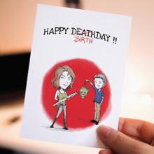 Birthday Card , Printable Card,Maggie & Glenn, Walking dead, Zombie