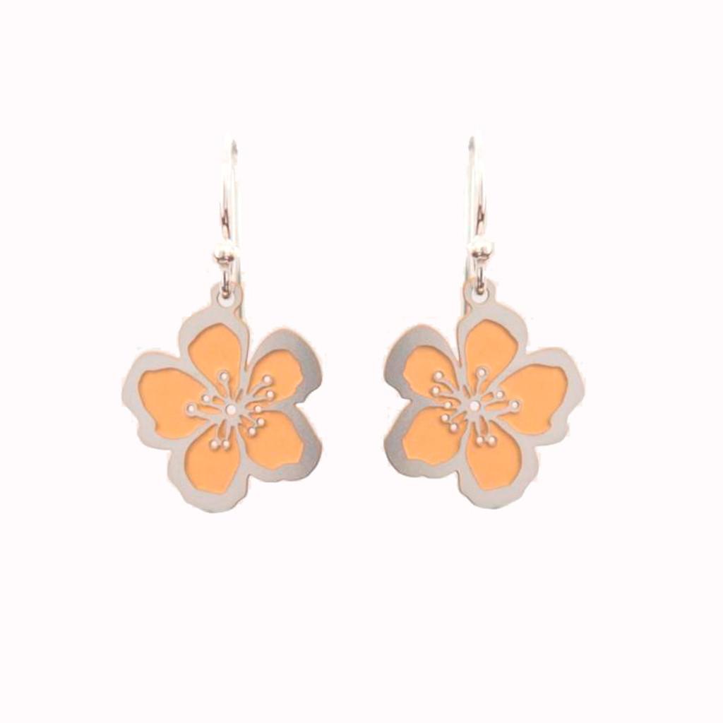 Two tone Geraldton wax flower earrings