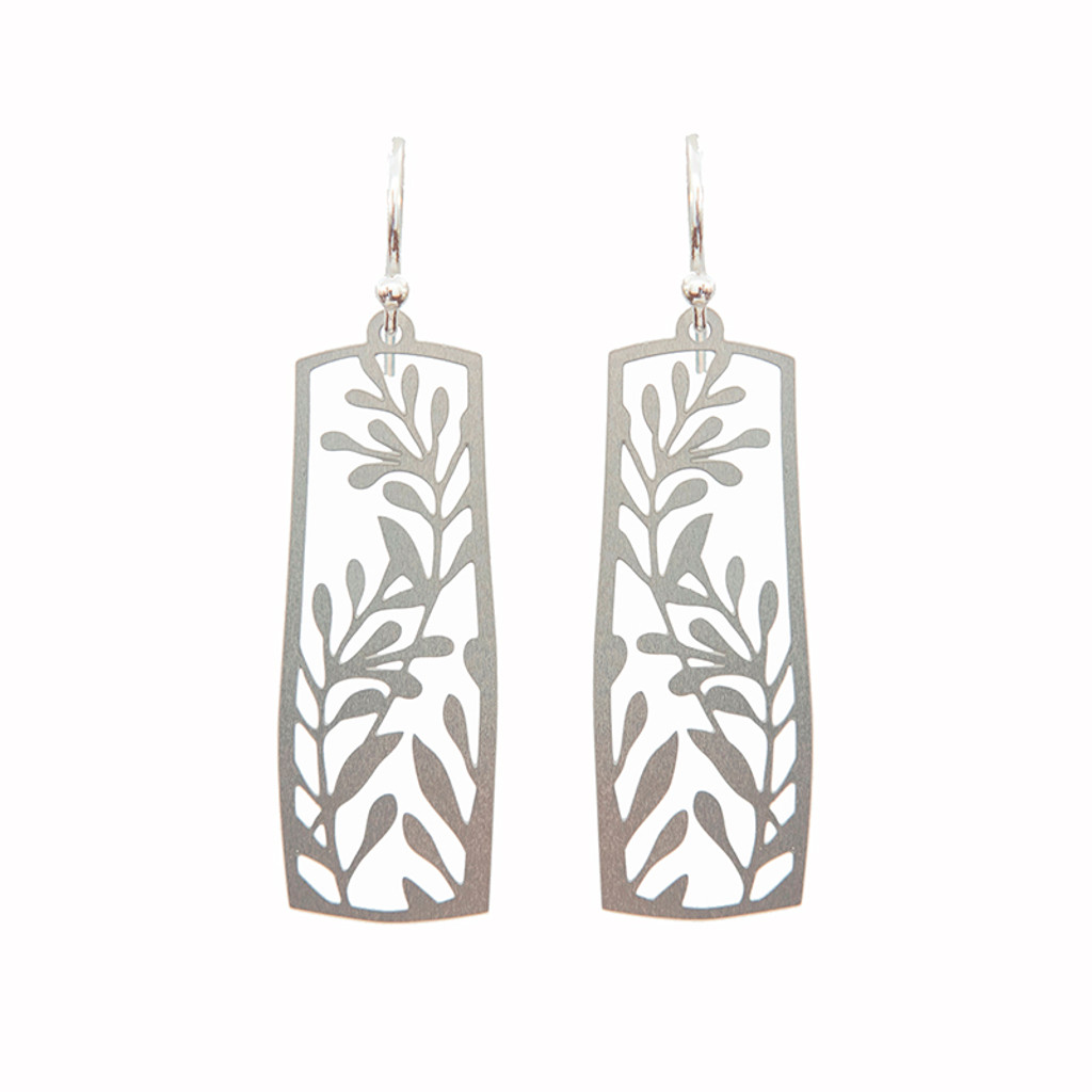 Framed vine earrings