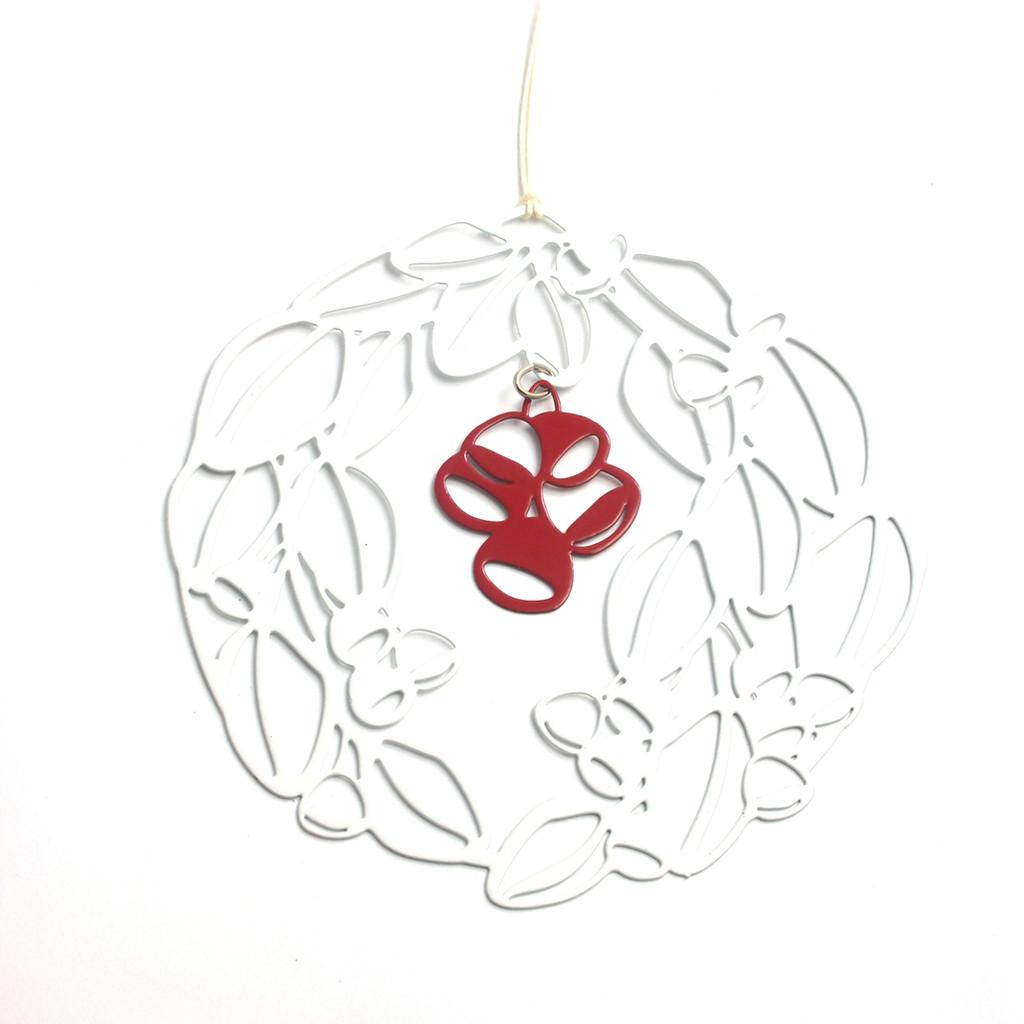 Gum nut wreath snowflake