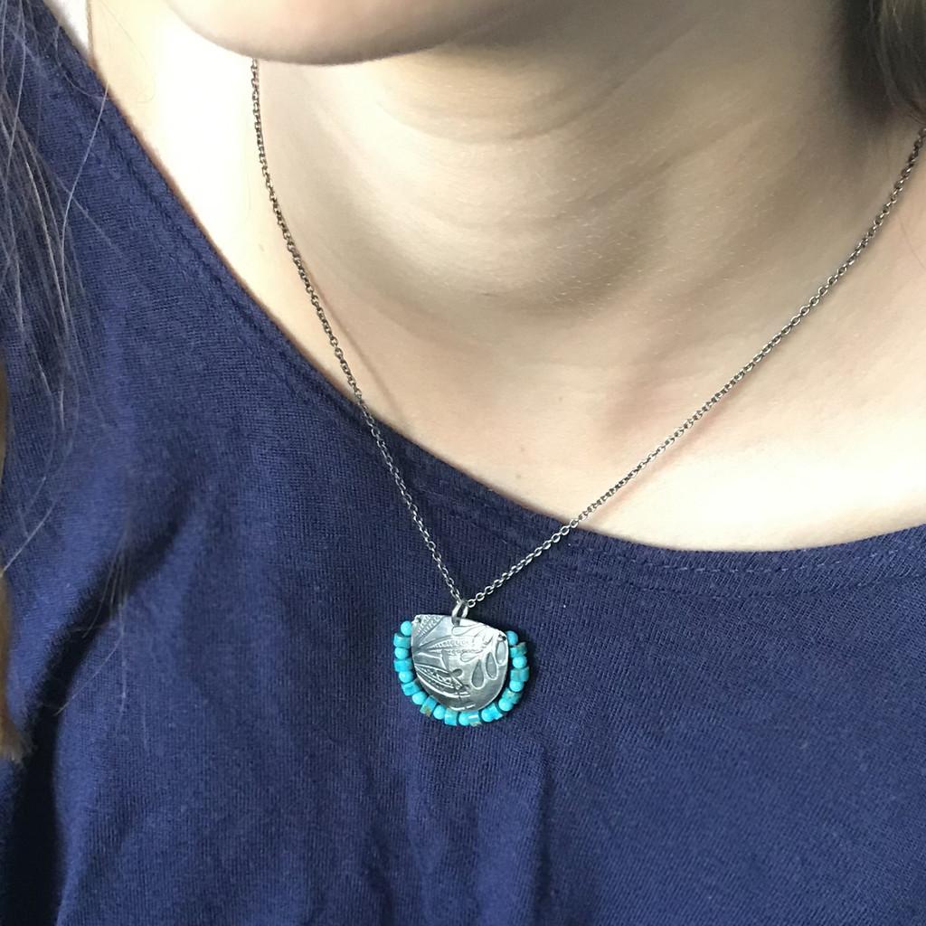 Fern turquoise pendant