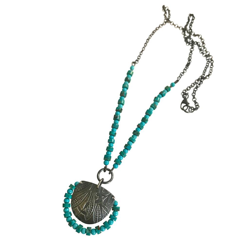 Fern turquoise necklace