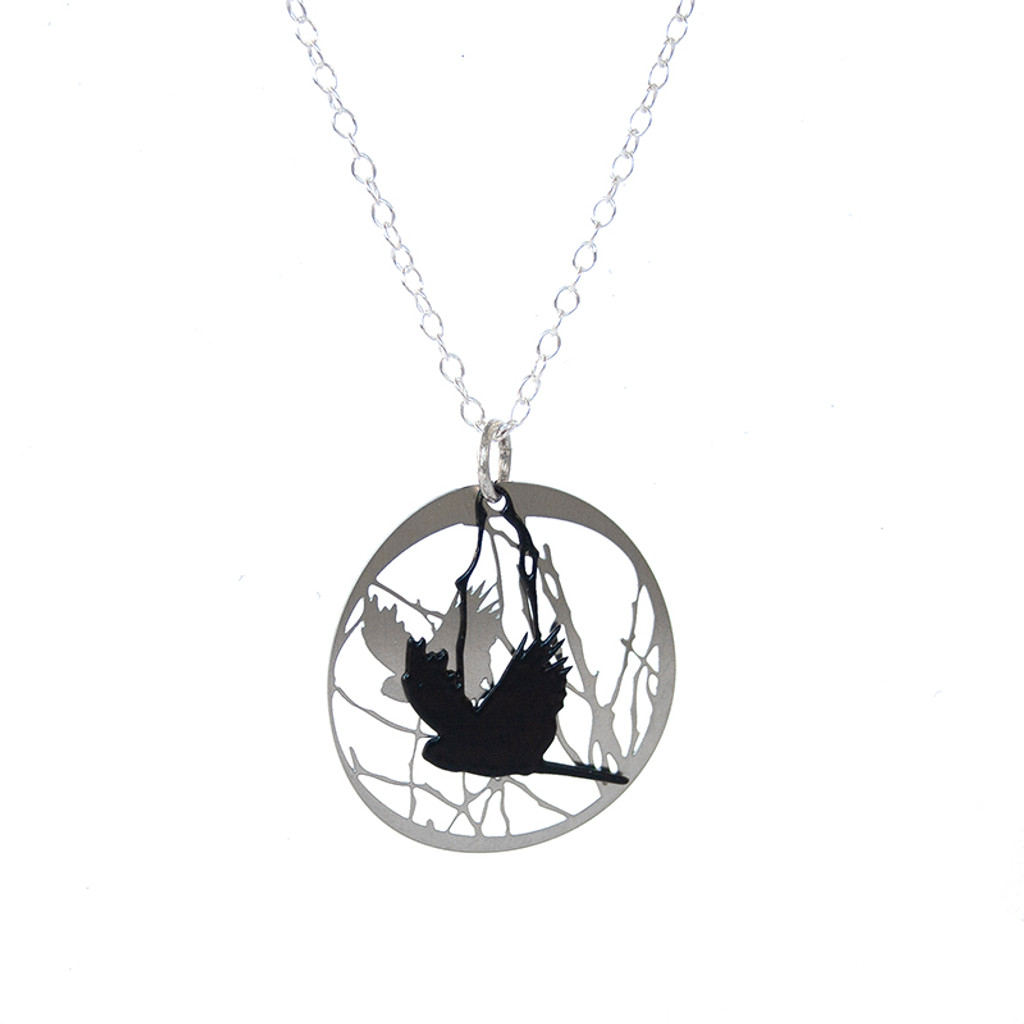 Bird and Branch pendant colour front