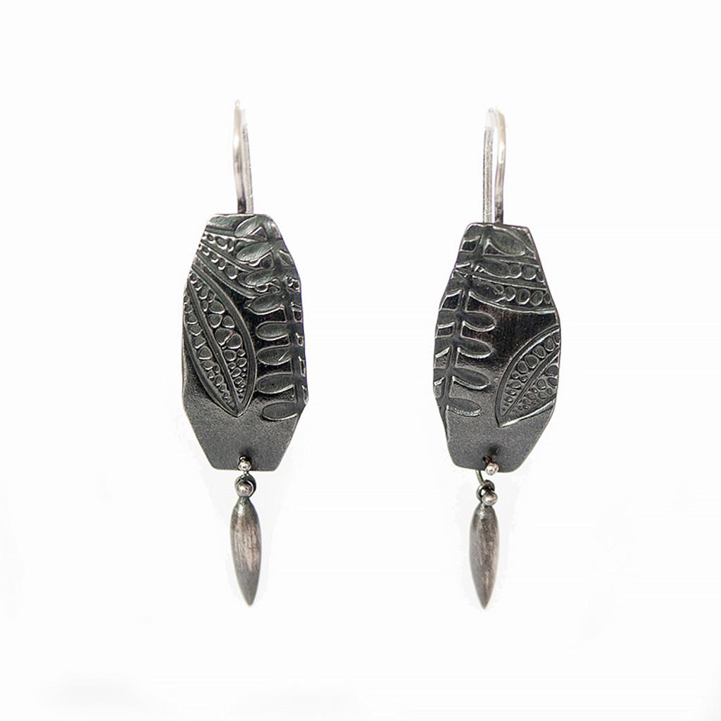 Geo Eremophila spear earrings