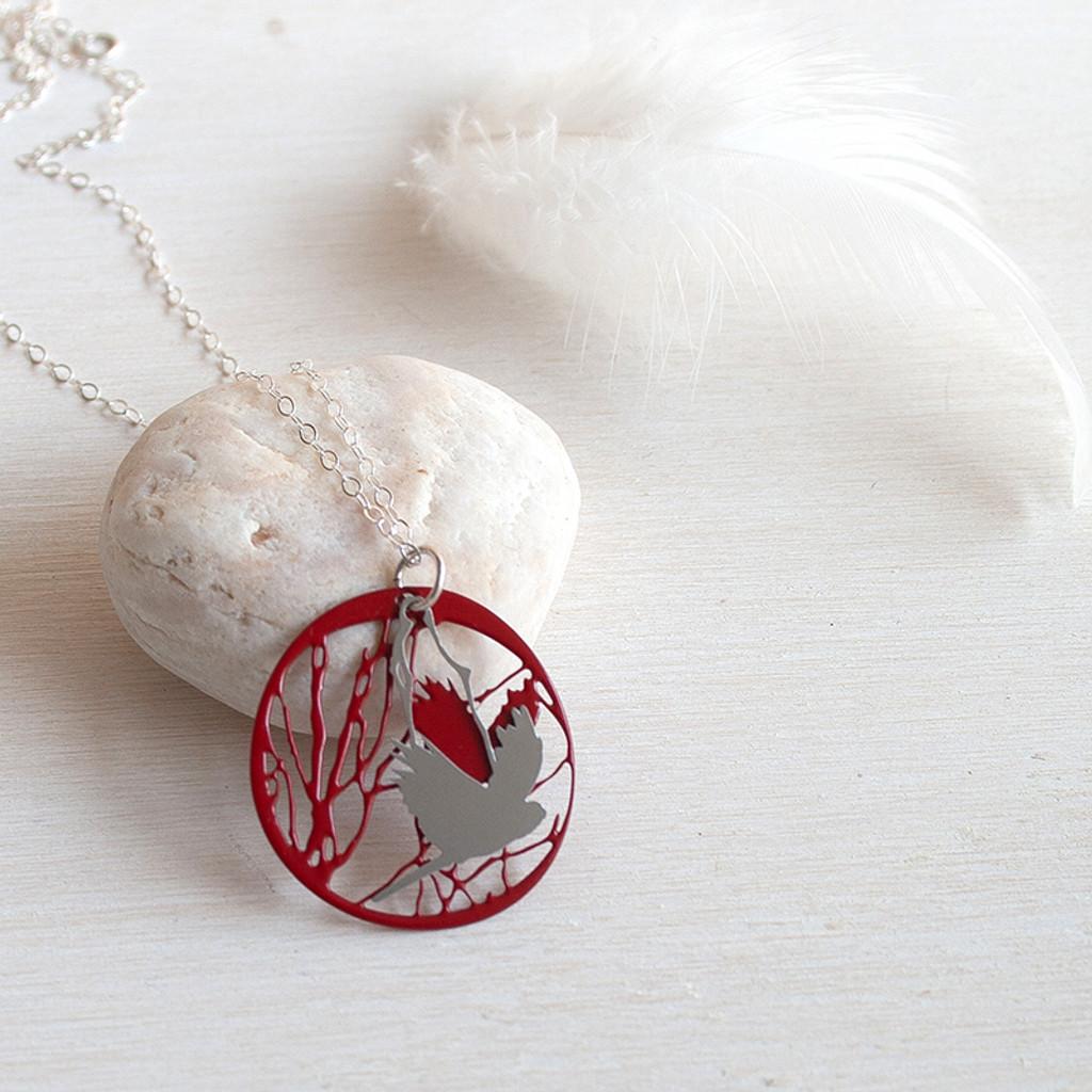 Bird and Branch pendant colour back