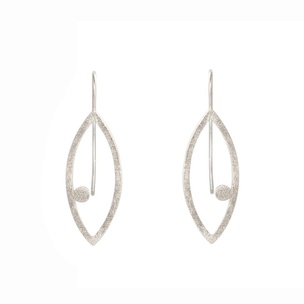 Petal dot sterling silver earrings