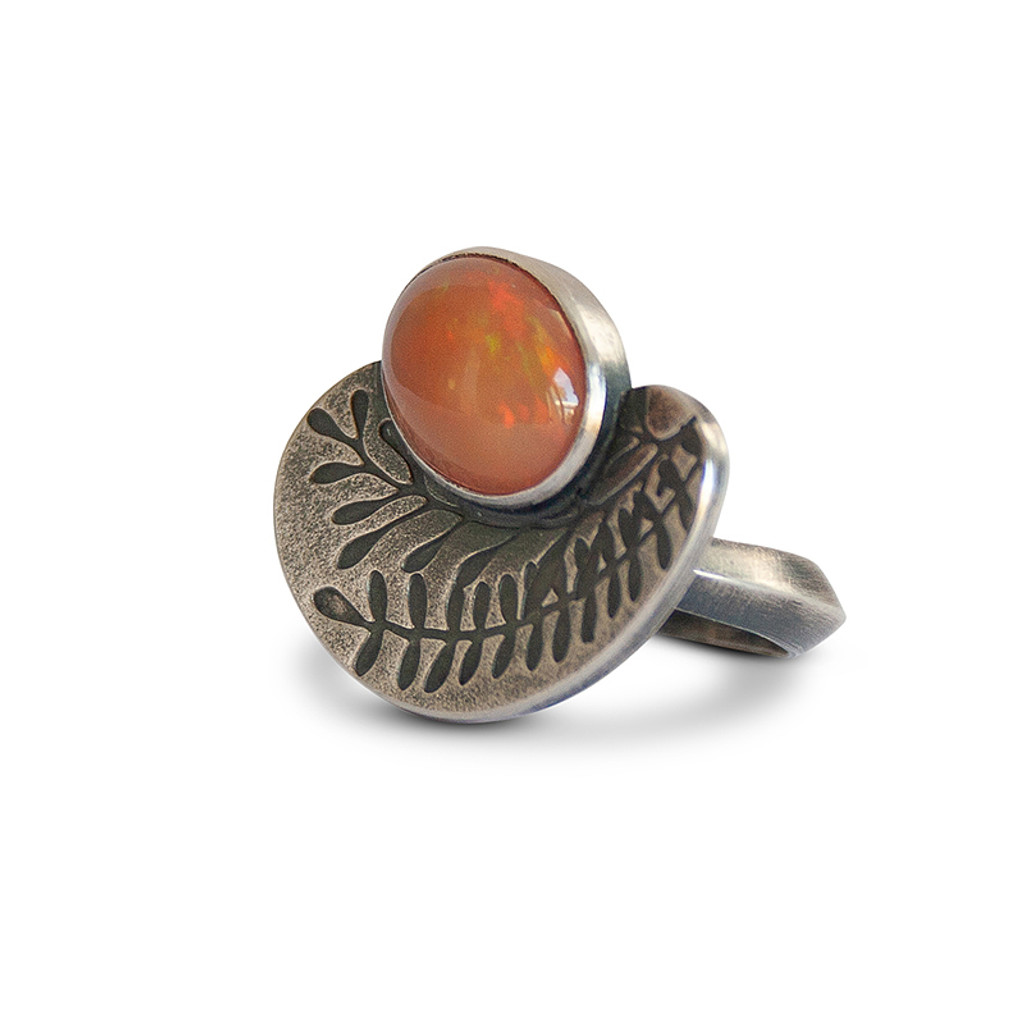 Fire Fern Cocktail Ring