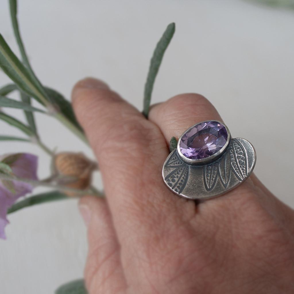 Nivea Amethyst Cocktail ring
