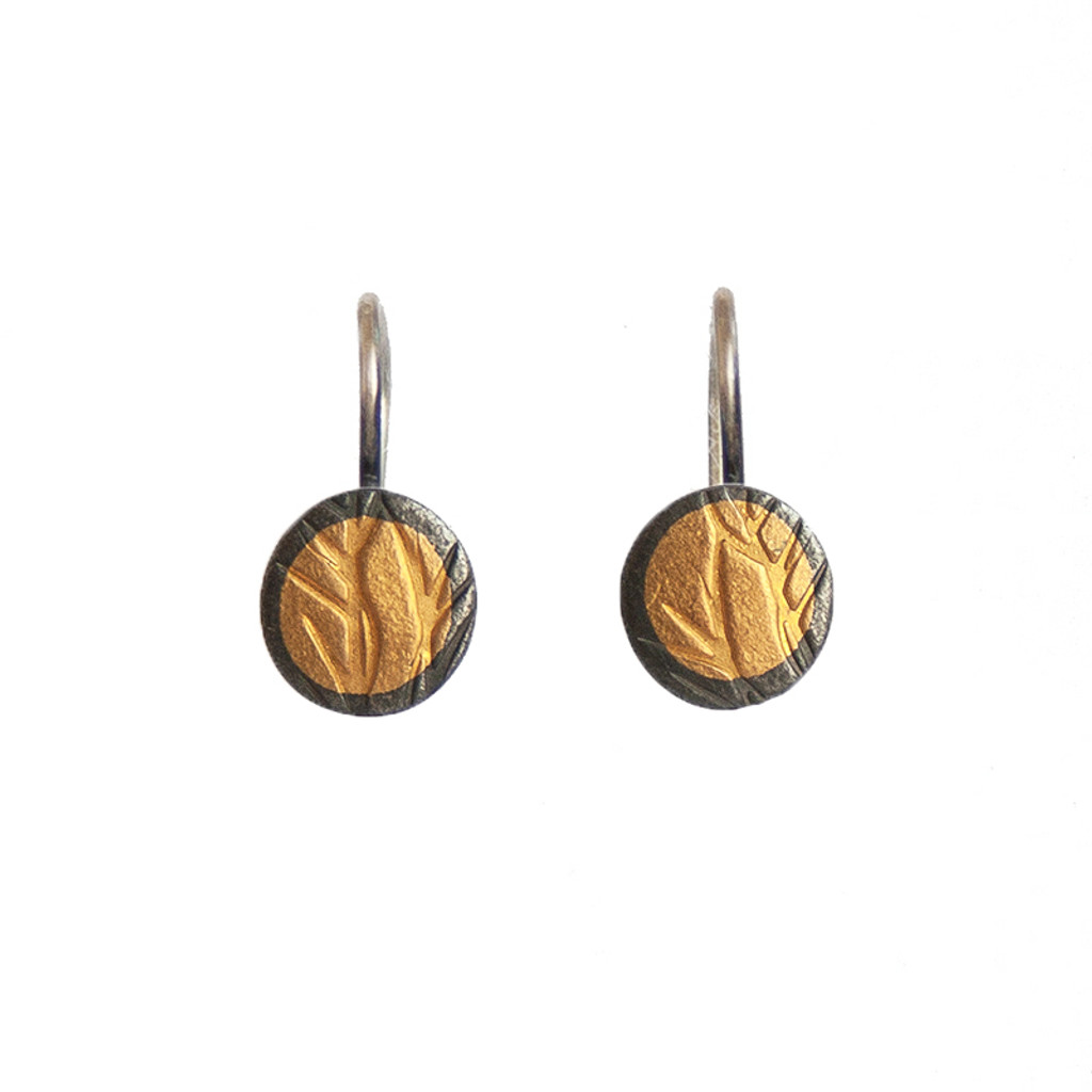 Grasses gold and silver earrings
