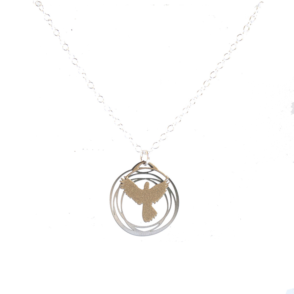 Flight pendant silver and gold II