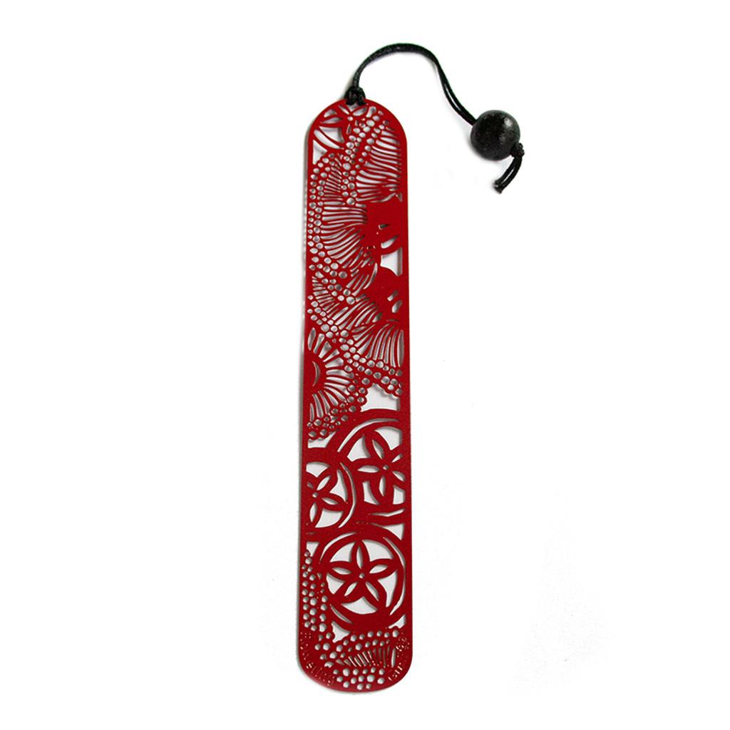 Red steel Flowering Gum bookmark