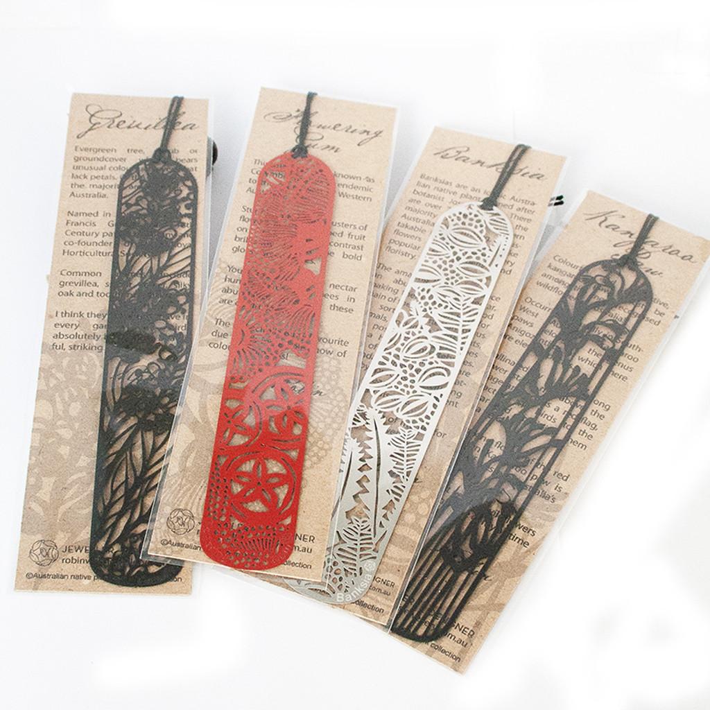 Red steel Grevillea bookmark
