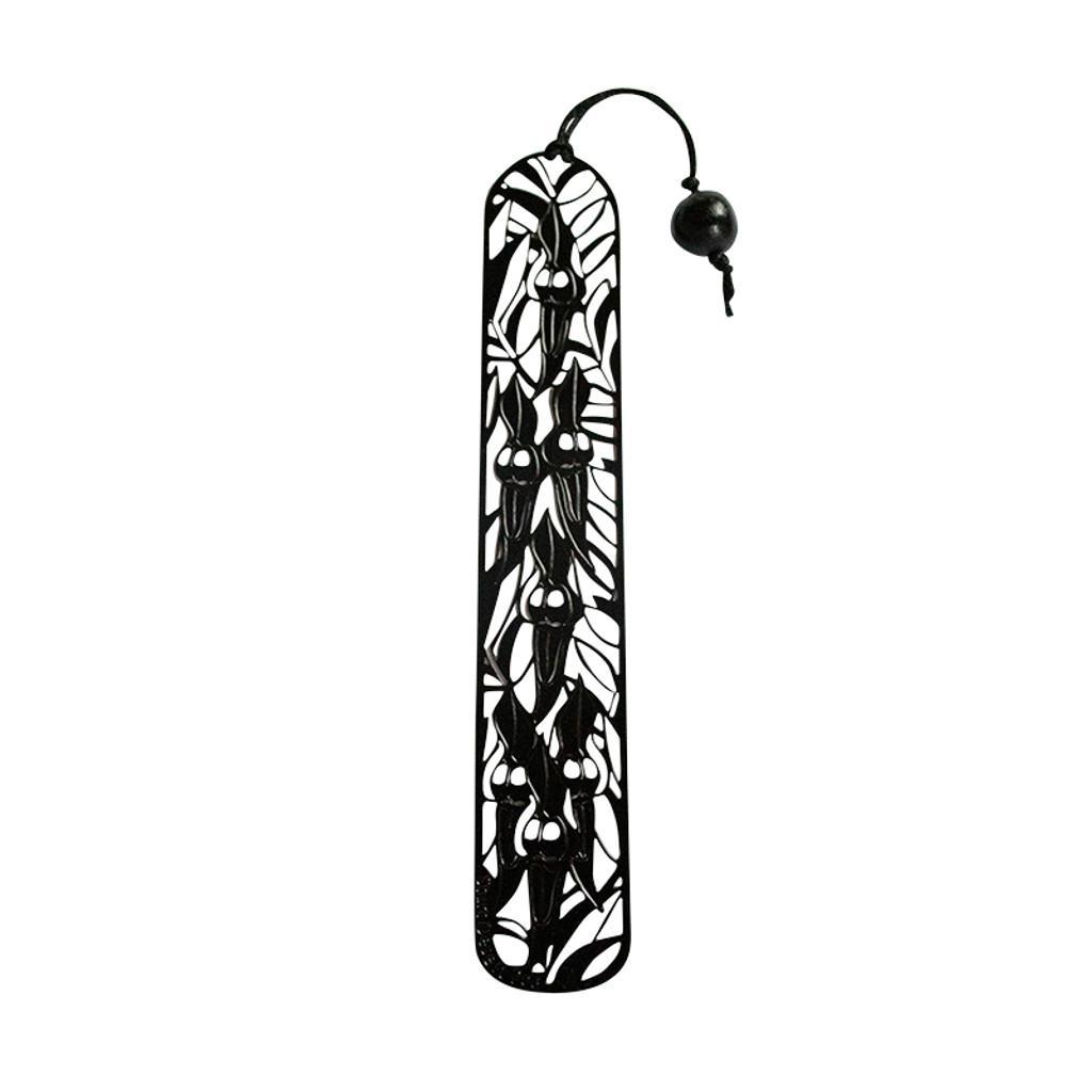 Black Sturt's Desert Pea bookmark