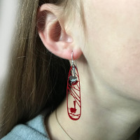Wren earrings (Colour back)