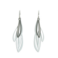 Double leaf earrings (Colour back)