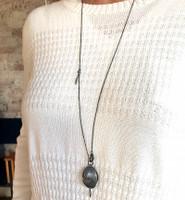 Long oval banksia pendant