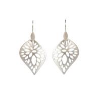 Sterling silver radiating leaf earrings