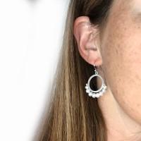 Cirque Fresh water pearl sterling silver earrings