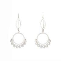 Cirque petal fresh water pearl sterling silver earrings