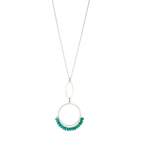 Cirque petal turquoise sterling silver pendant