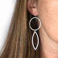 Cirque Petal sterling silver earrings large