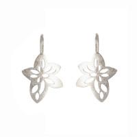 Sterling silver star flower earrings