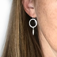 Cirque spear sterling silver earrings