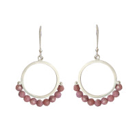 Cirque Rhodochrosite sterling silver earrings