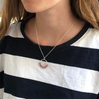 Cirque Rhodochrosite sterling silver pendant