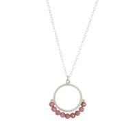Cirque Rhodochrosite sterling silver small pendant