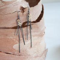 Leaf Bushfire earrings